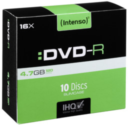 Intenso  1x10 Intenso DVDR 4,7GB 16x Speed Slimcase