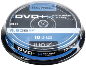 Intenso  1x10 Intenso DVD+R 8,5GB 8x Speed Double Layer Cakebox