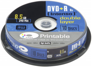 Intenso  1x10 Intenso DVD+R 8,5GB 8x Speed Double Layer printable