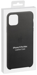 Apple  Apple iPhone 11 Pro Max Leather Case Black MX0E2ZM/A