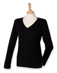 Henbury  Henbury Ladies Lightweight V Neck Jumper
