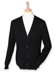 Henbury  Henbury Mens Lightweight V-Neck Cardigan