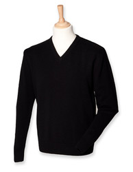 Henbury  Henbury Lambswool V-Neck Jumper
