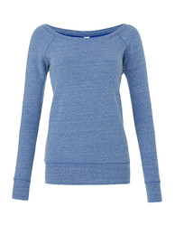 Bella  Bella Womens Sponge Fleece Wide Neck Sweatshirt