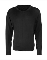 Premier Workwear  Premier Workwear Mens V-Neck Knitted Sweater