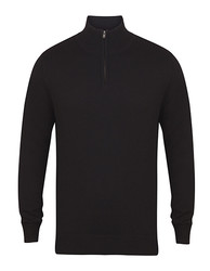 Henbury  Henbury Mens Quarter Zip Jumper