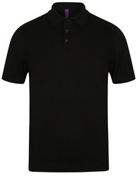 Henbury  Henbury Mens Knitted Short Sleeved Polo