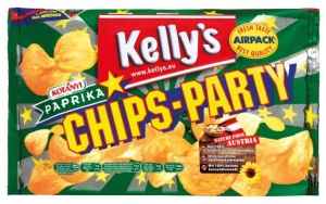 Kelly's  Chips Party Paprika 275g