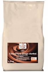 Carte D'or  COUVERTURE DROPS DUNKEL 2,5KG CDO (1 Packung)
