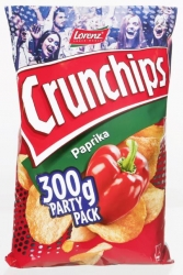 Lorenz  Crunchips Paprika Party Pack 300g