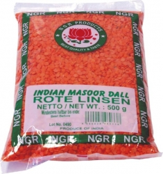 NGR  ROTE LINSEN MASOOR DALL 500G NGR (1 Beutel)