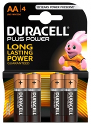 Duracell  BAT.MIGN.P.POWER AA LR6 4STK DUR (1 Packung)
