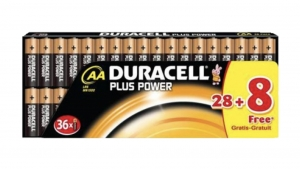 Duracell  Batterien Mignon Plus Power AA LR6 28+8Stk.