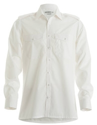Kustom Kit Mens Pilot Shirt Long Sleeve white 3 XL